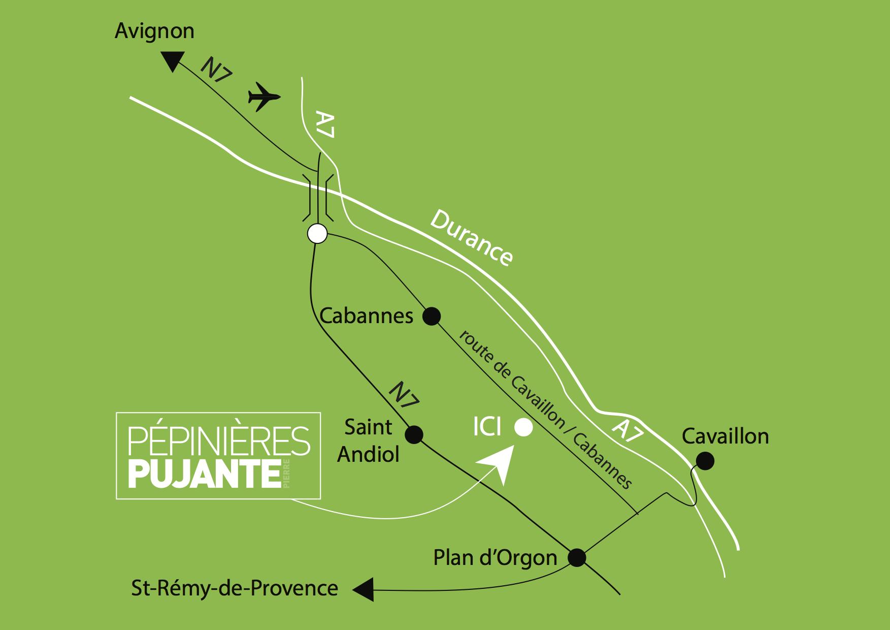 Plan - Pépinières Pujante
